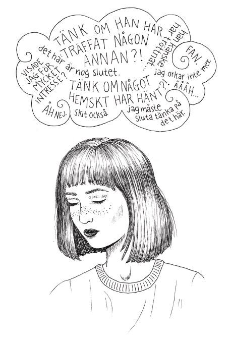 Illustration av en otrygg ambivalent person